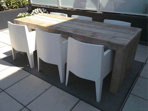Strakke steigerhouten tafel munchen
