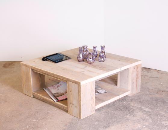 Steigerhouten salontafel tafels op steigerhoutenmeubelshop for Steigerhout salontafel