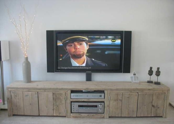Steigerhouten TV meubel Sutri  TV kasten van steigerhout