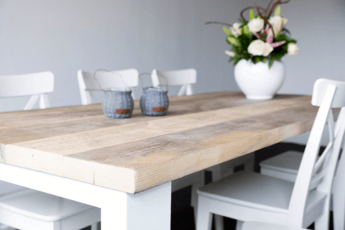 "Steigerhouten tafel met dikke planken ""Millau"""