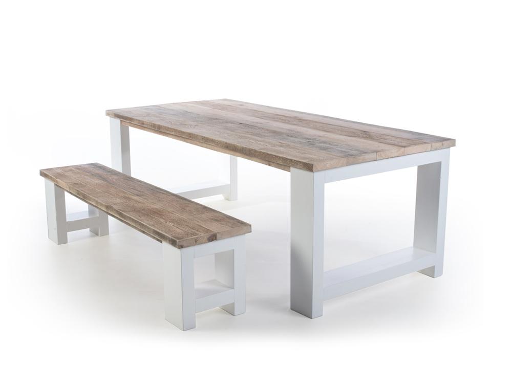 Steigerhouten tafel dikke planken Millau