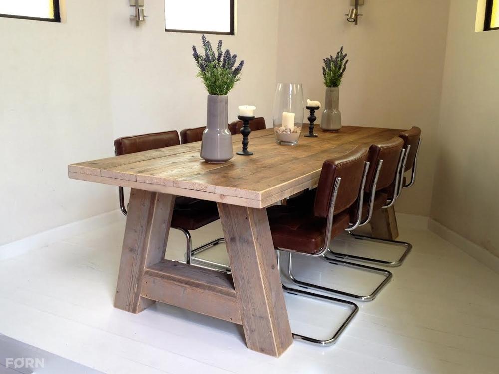 houten tafel 39 stockholm 39 op maat gemaakt robuuste tafel