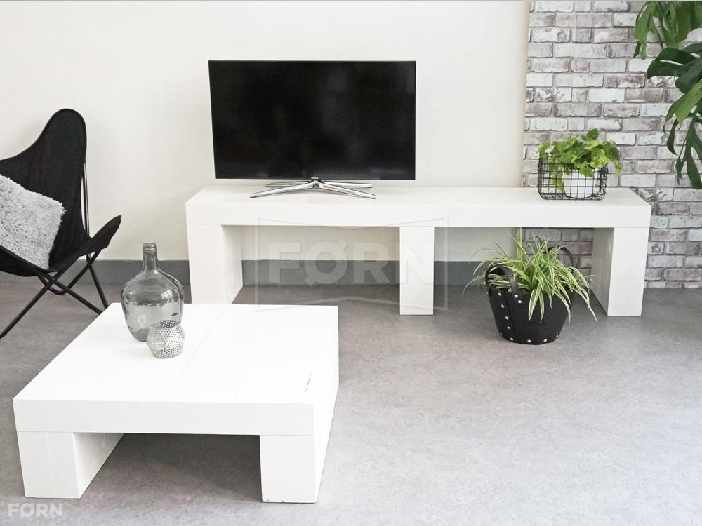 Woonkamer witte meubels : Witte houten TV meubel VIT01 TV meubels van ...