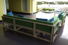 Steigerhout loungebank modules
