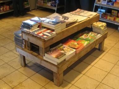 Steigerhouten Presentatietafel