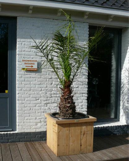 Steigerhouten bloembak Almada