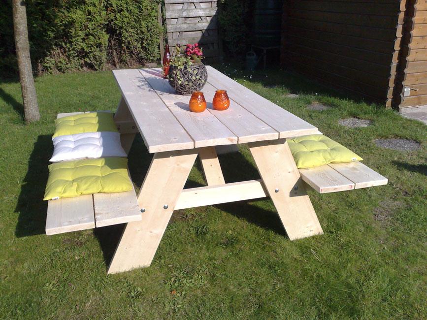 Onwijs Steigerhouten picknicktafel | Tuinmeubels van steigerhout TC-55