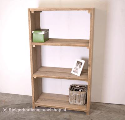 Beautiful boekenkast maken van steigerhout ideas trend for Boekenkast steigerhout