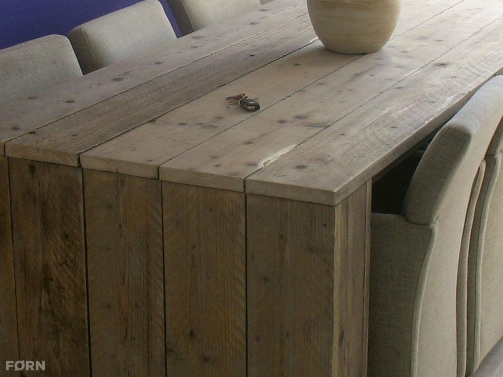 Landelijke tafel freya exclusieve tafels van steigerhout op maat