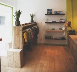 winkel met steigerhouten meubelen