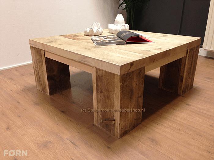 Super Steigerhouten salontafel Kollmar - Steigerhouten meubelen NR77