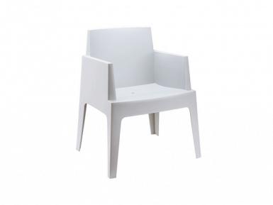 Stoel box chair, exclusieve kuipstoel van kunsstof