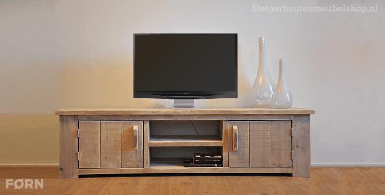 Hardhouten Tv Kast.Steigerhouten Tv Meubel Roma Tv Kasten Van Steigerhout