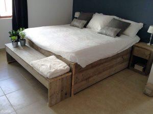 Steigerhouten Bed Fenne
