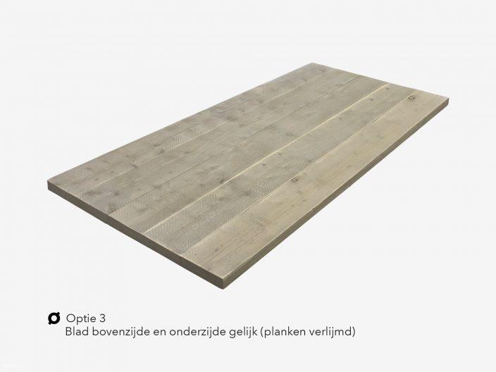 Steigerhouten tafelblad optie 3 verlijmd