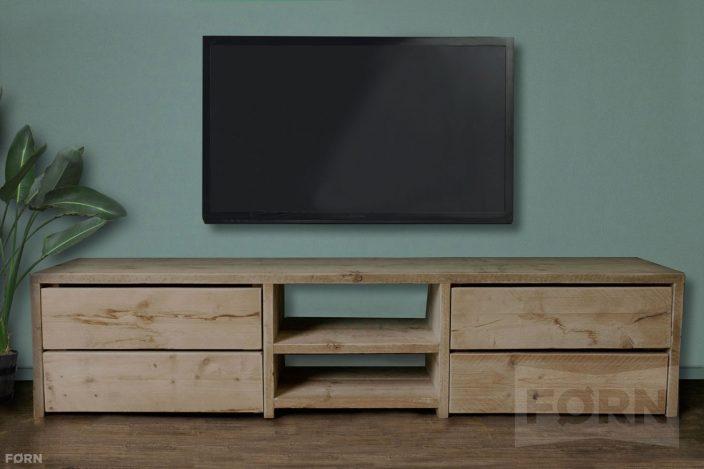 Steigerhouten tv meubel met laden