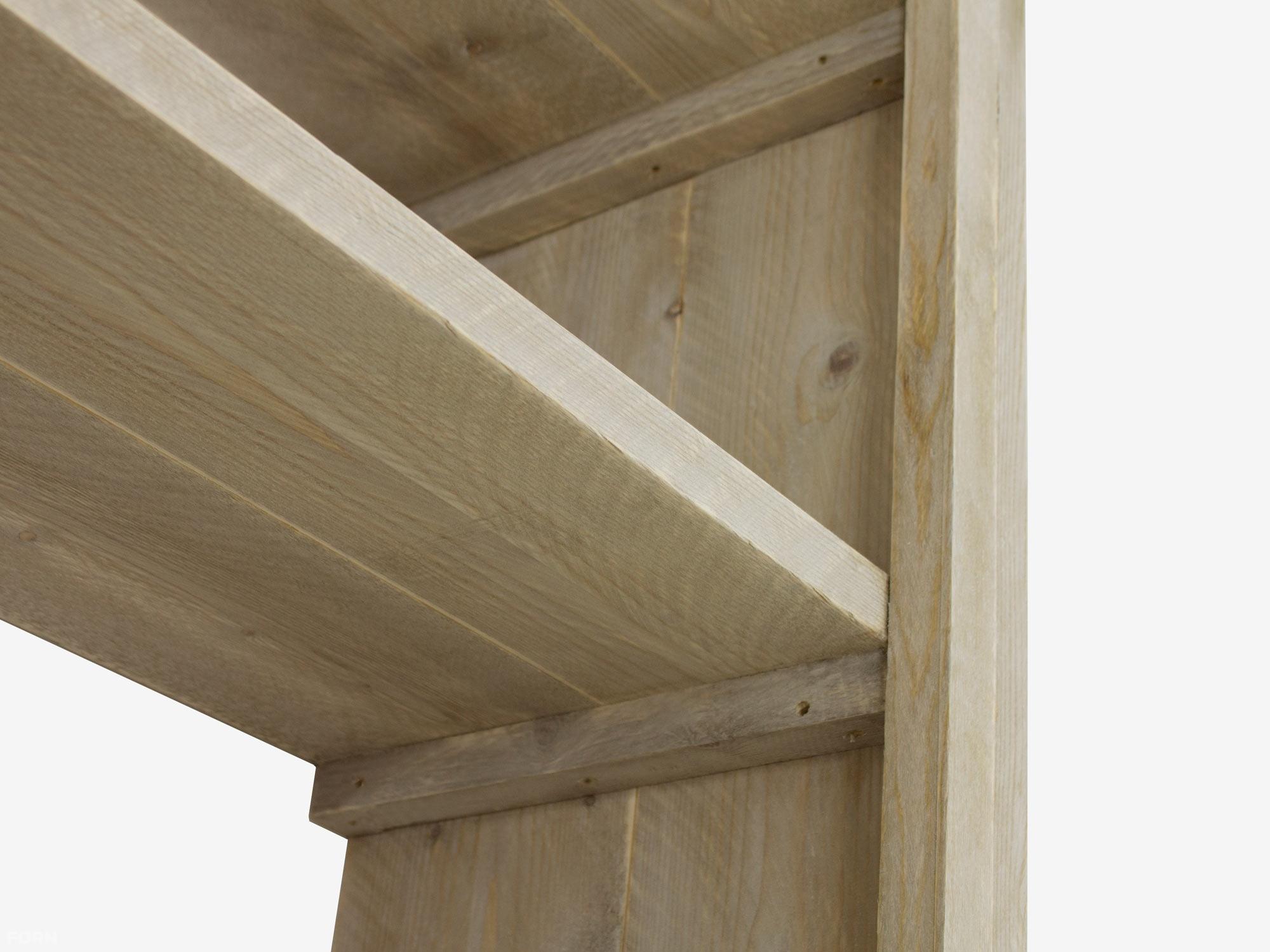 Robuuste steigerhouten boekenkast - Binnen twee weken geleverd