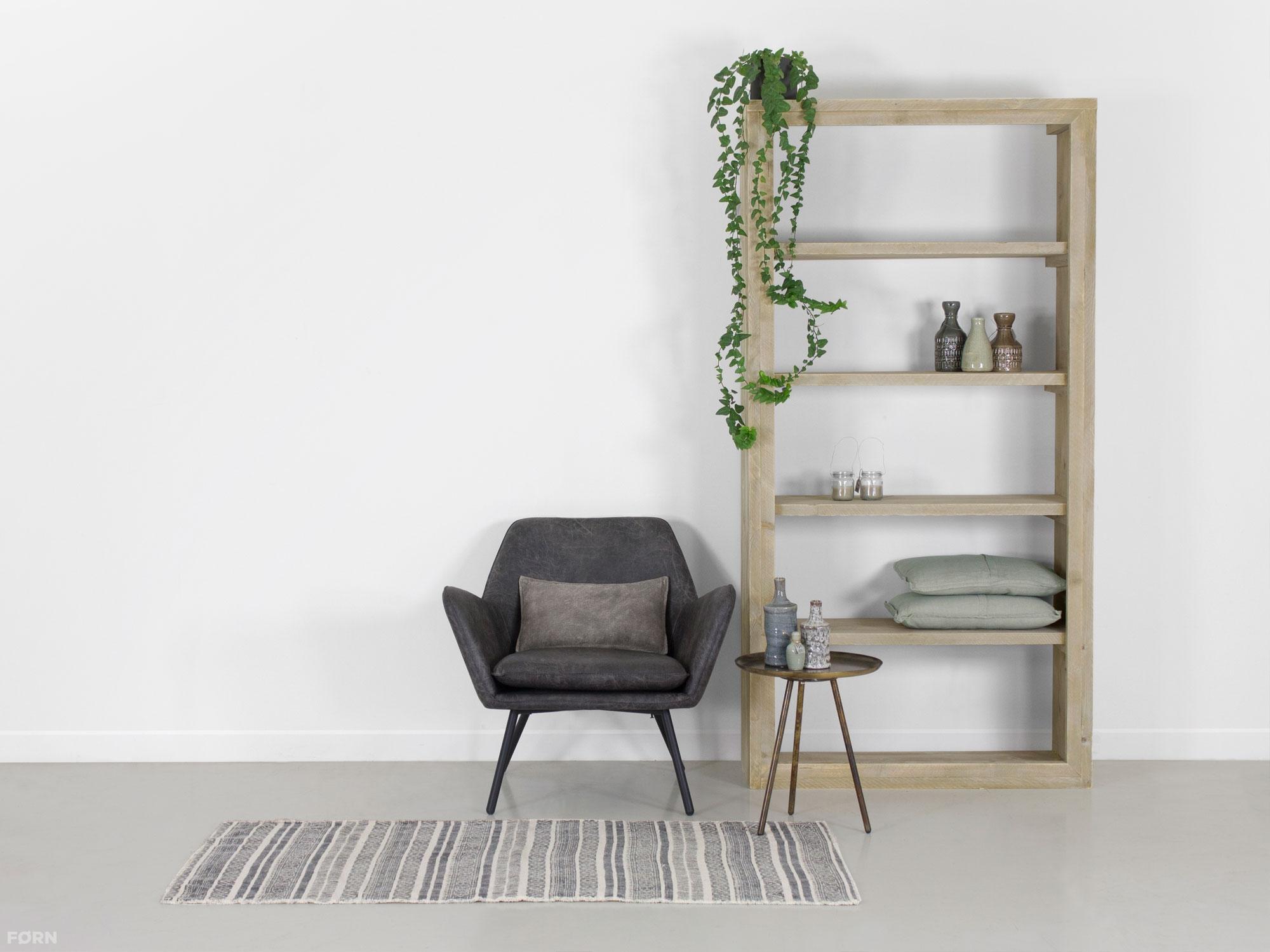 Robuuste steigerhouten boekenkast binnen twee weken geleverd for Boekenkast steigerhout