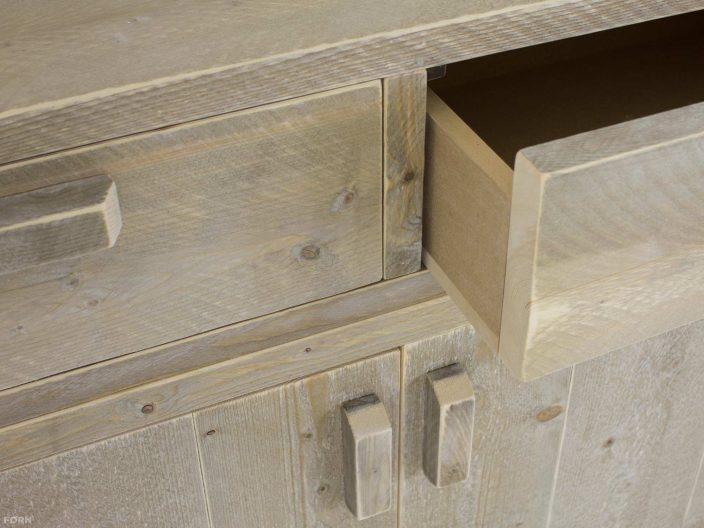 steigerhouten dressoir kast drosa detail