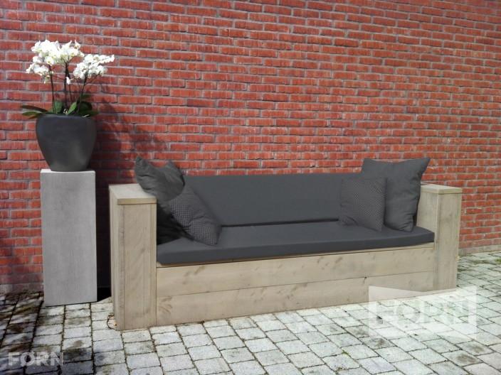 Steigerhouten loungebank roskilde steigerhout tuinmeubels - Tafel rots lounge bobois ...