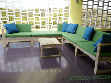 Steigerhouten loungeset modules Triade