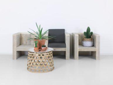 steigerhouten loungestoel narvik
