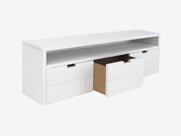 steigerhouten sidetable kast tv meubel jip witte achtergrond