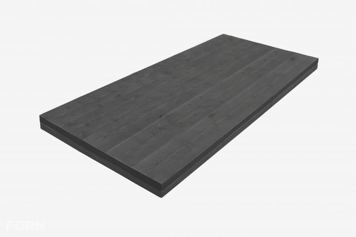steigerhouten tafelblad black wash