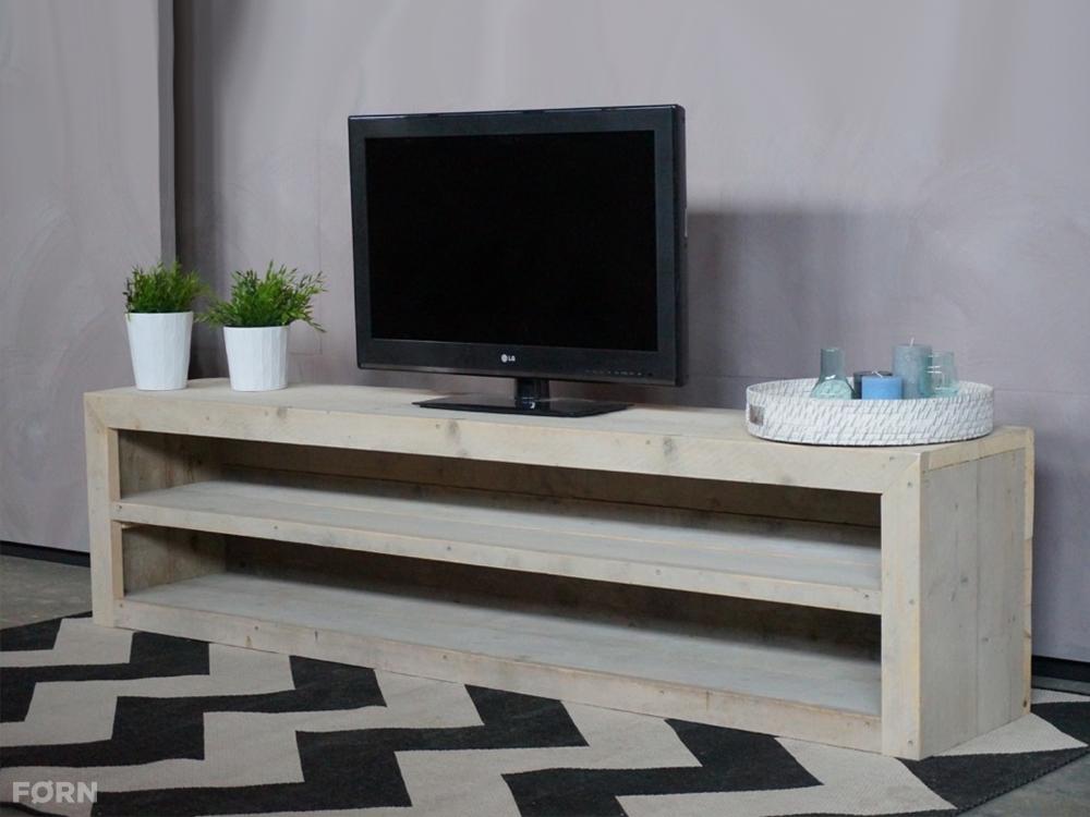 Steigerhouten tv meubel tv meubels van steigerhout for Tv meubel design