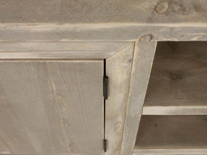 steigerhouten tv meubel sutri detail