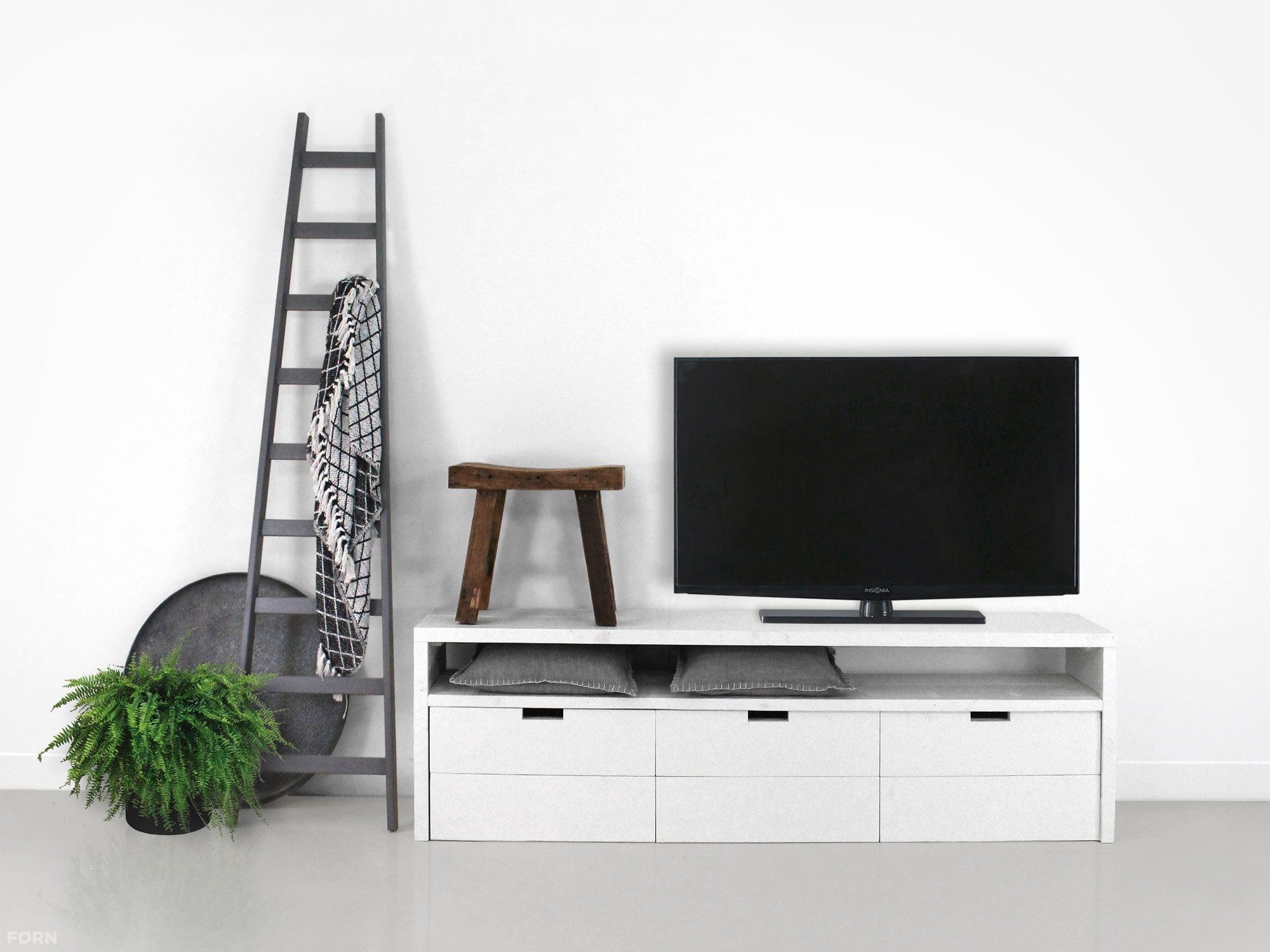 Kleine Tv Meubel : Steigerhouten sidetable met handige rol lades steigerhouten meubels