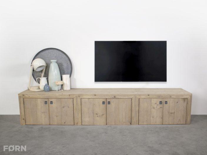 steigerhouten tv meubel kast Elzas op maat gemaakt