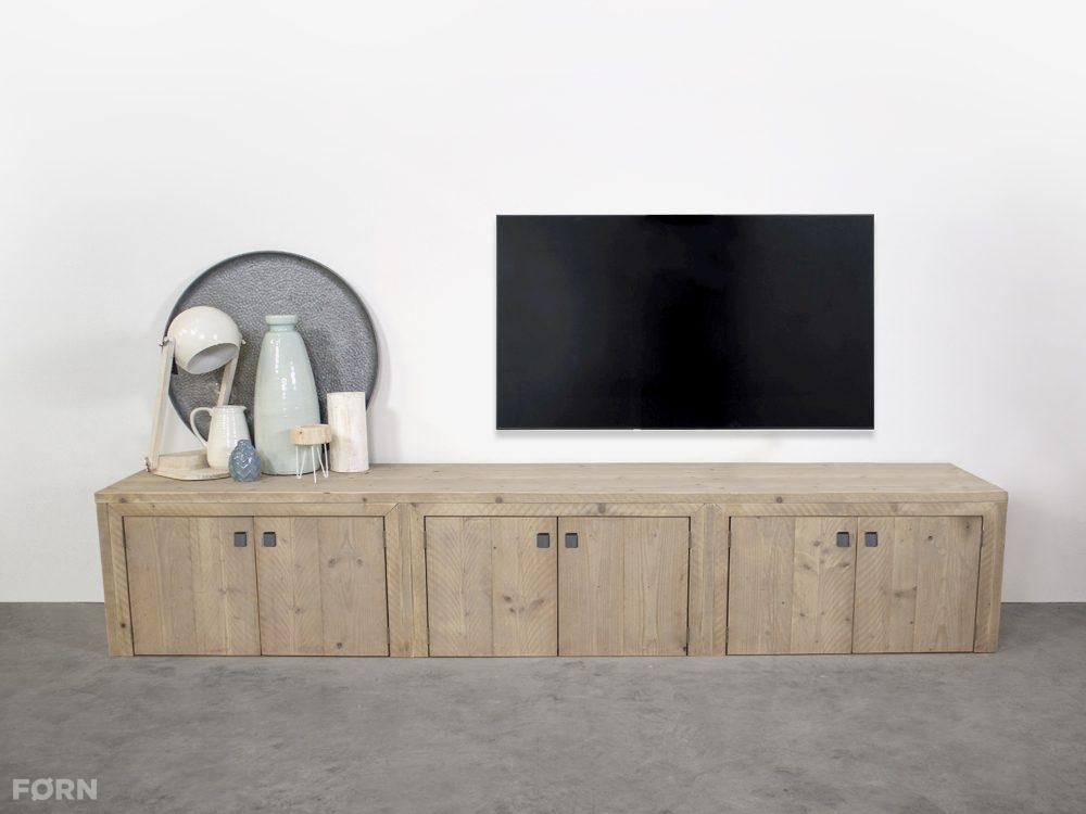 Tv Meubel Kast Steigerhout.Steigerhouten Tv Meubel Elzas Op Maat Gemaakt