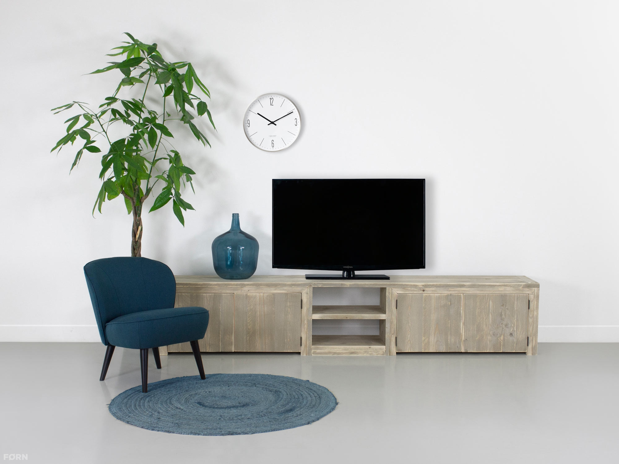 Steigerhouten tv meubel sutri tv kasten van steigerhout for Tv meubel design