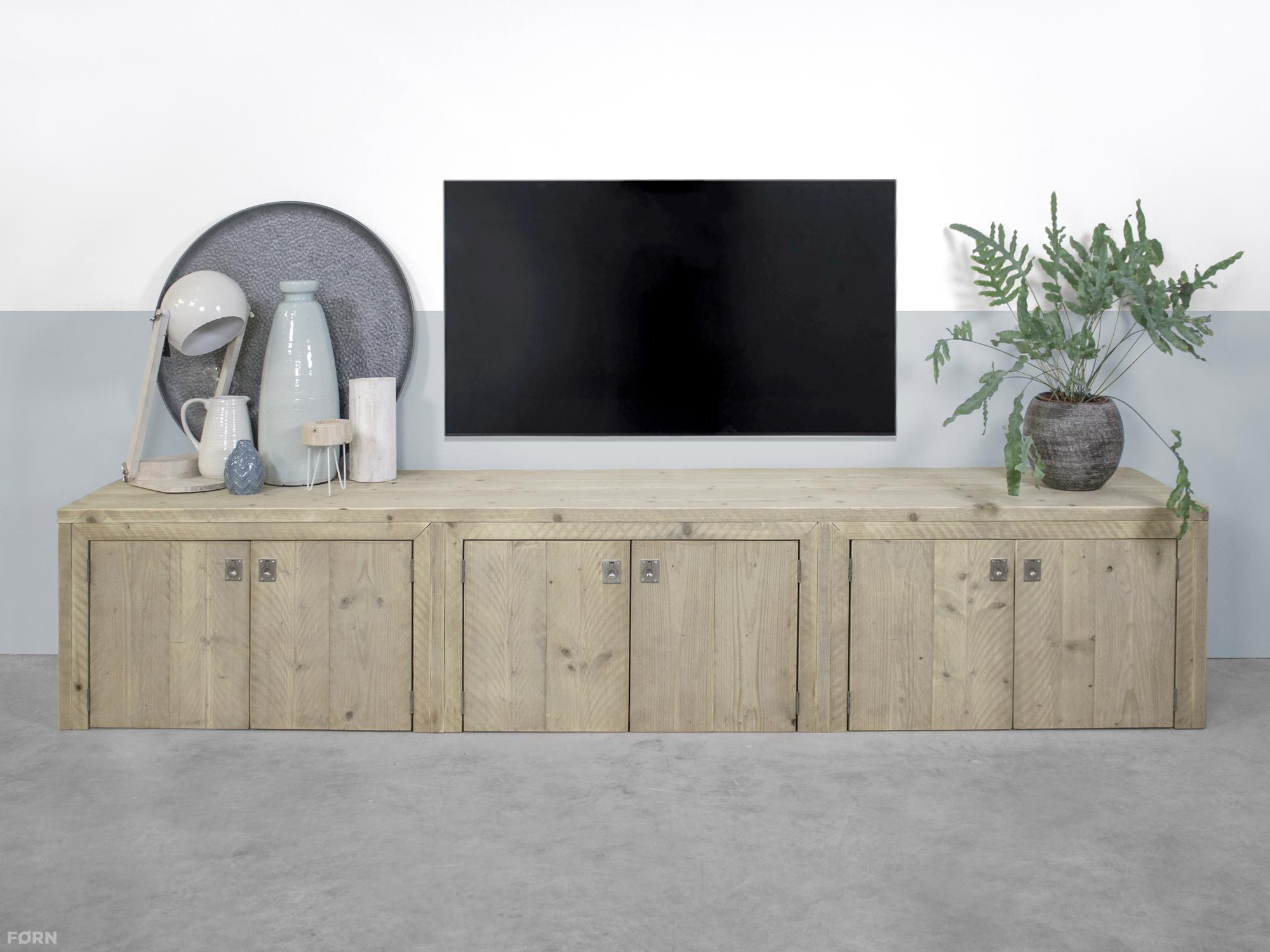 Steigerhouten Tv Meubel Met Deuren Elzas