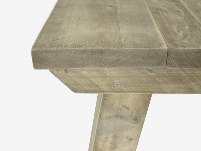Steigerhouten tafel Ystad detail 1