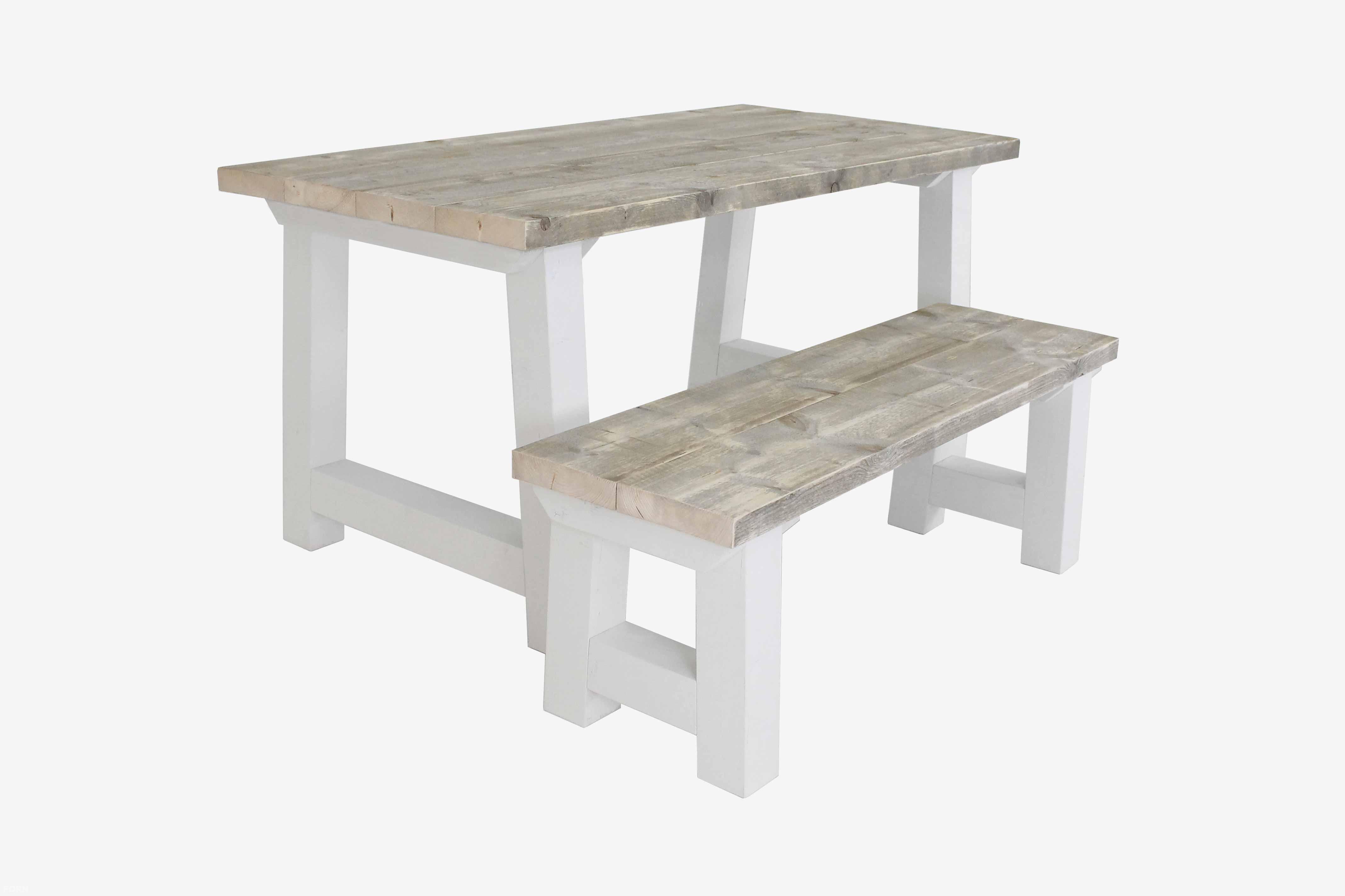 Wit Bankje Eettafel.Landelijke Houten Tafel Dikke Planken Steigerhouten Tafel