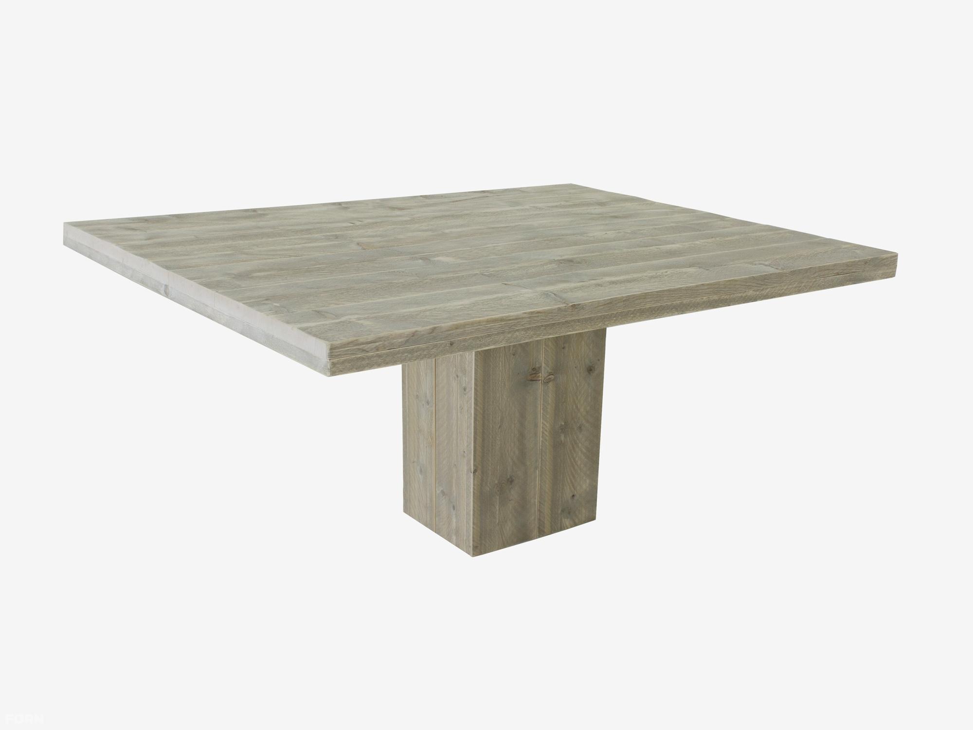 Steigerhout tafel maken bouwtekening steigerhout kolompoot tafel steigerhout bouwpakket - Tafel met chevet ...