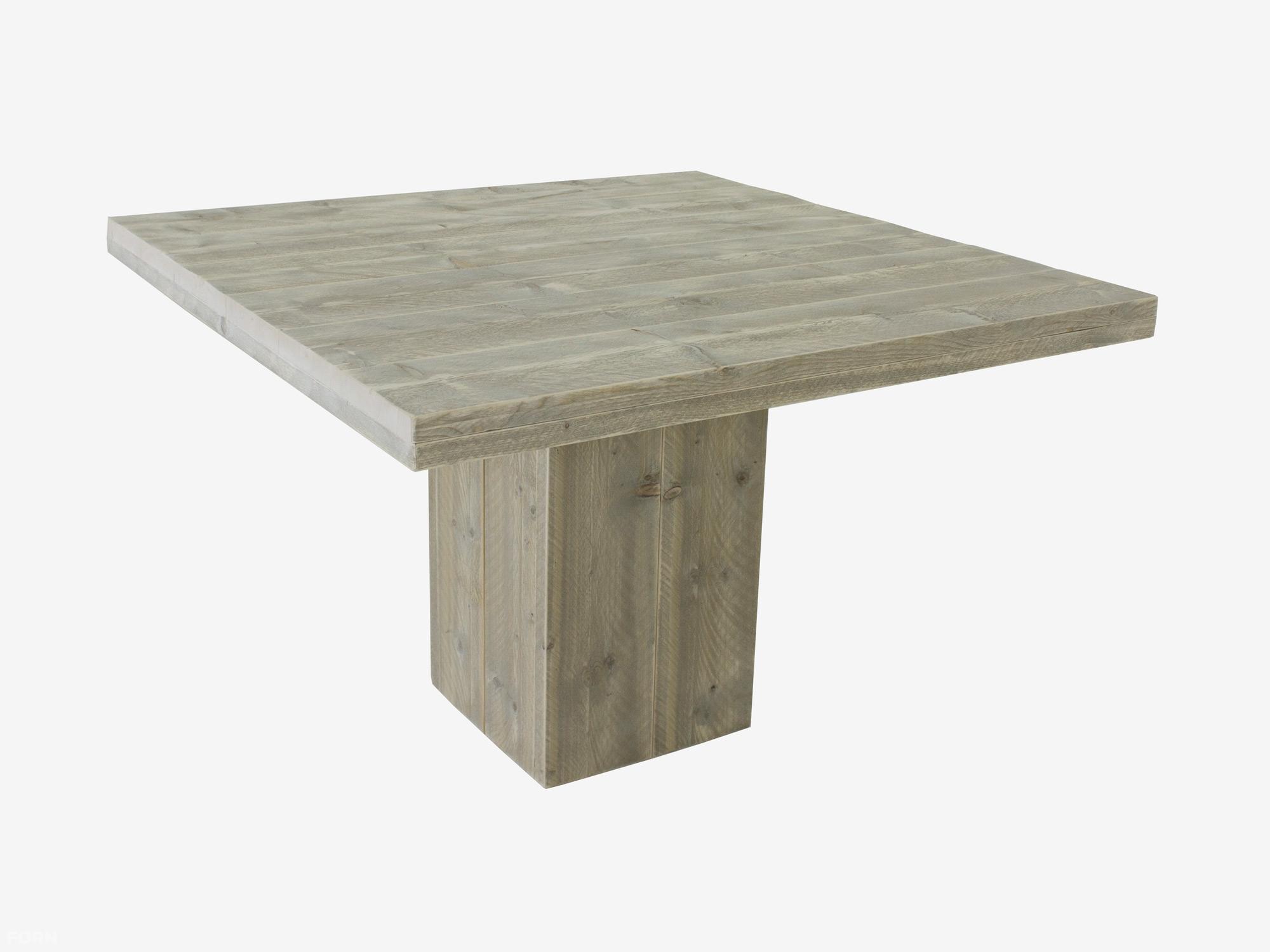 Steigerhouten tafel met kolompoot ook maatwerk f rn for Steigerhouten eettafel maken