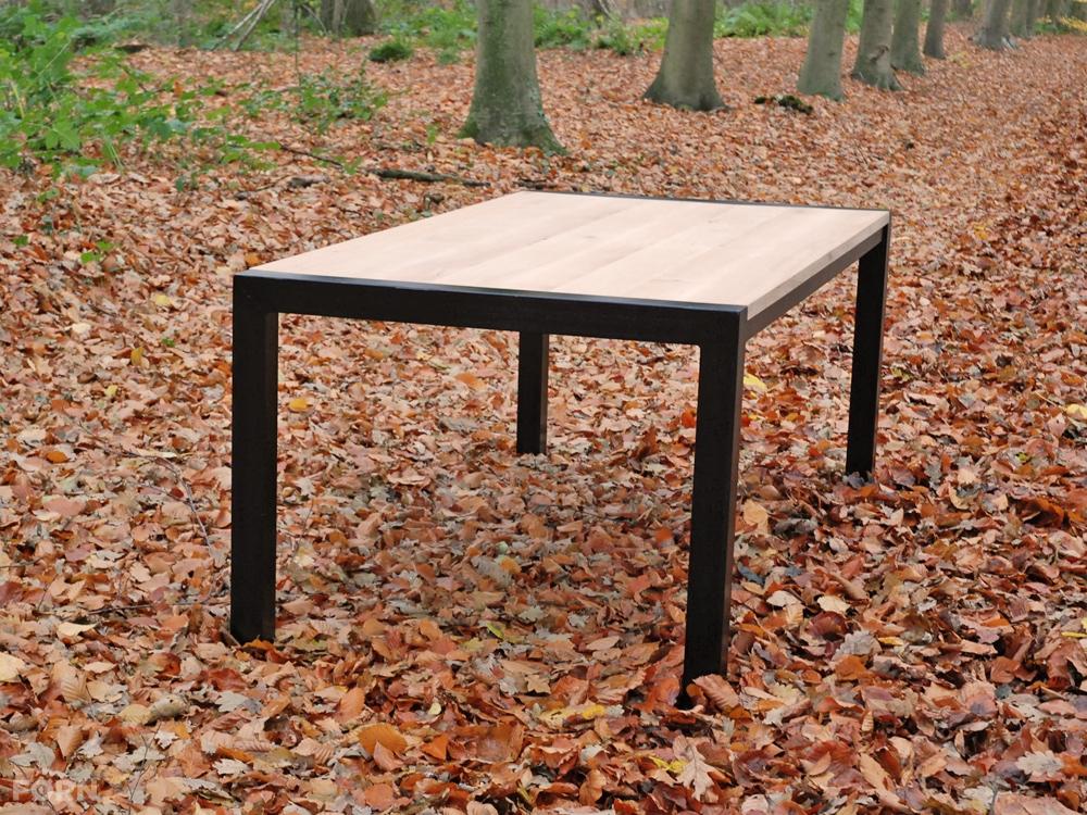 Eetkamer eetkamertafel eikenhout : Wees de eerste om u201cEiken tafel metalen frame L501u201d te beoordelen ...