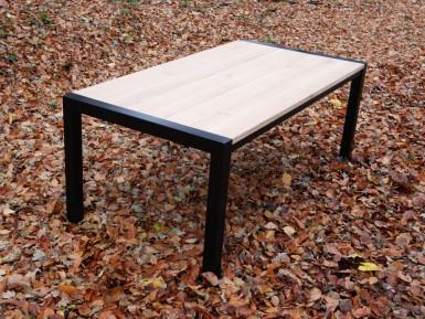 Steigerhouten tafels kopen for Stalen onderstel tafel laten maken