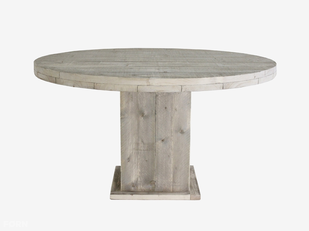 Ronde steigerhouten tafel op maat gemaakt bij f rn for Bouwtekening tafel