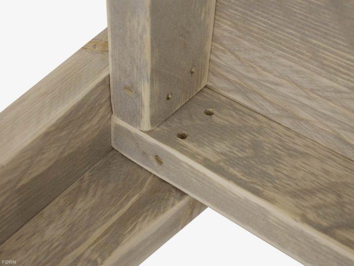 steigerhouten salontafel bent detail