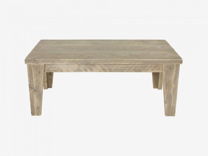 steigerhouten salontafel bent witte achtergrond