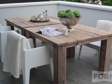 Steigerhouten tafel Chablis