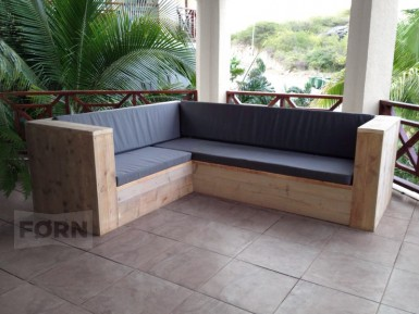 steigerhouten loungebank Grenada