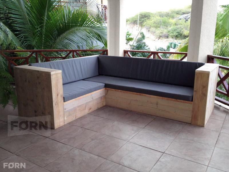 Steigerhouten loungebank for Tuinbank steigerhout aanbieding