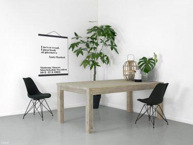 steigerhouten tafel Pampoen sfeerfoto 2