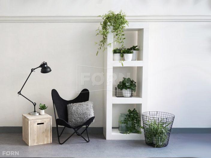 Witte houten kast vit van f rn - Eigentijdse boekenkasten ...