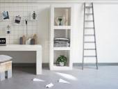 Witte houten kast vit van f rn - Eigentijdse boekenkast ...